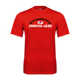 Syntrel Performance Red Tee-Football Horizontal w/ Ball