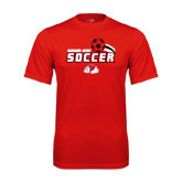 Syntrel Performance Red Tee-Soccer w/ Swoosh and Ball