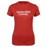 Ladies Syntrel Performance Red Tee-Gardner-Webb University