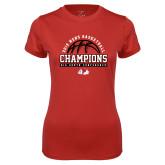 Ladies Syntrel Performance Red Tee-2019 Mens Basketball Chmapions