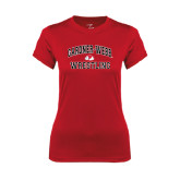 Ladies Syntrel Performance Red Tee-Wrestling