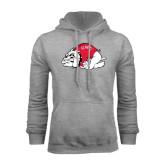 Grey Fleece Hoodie-Bulldog