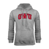 Grey Fleece Hoodie-Arched GWU