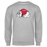 Grey Fleece Crew-Bulldog