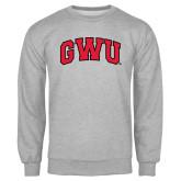 Grey Fleece Crew-Arched GWU