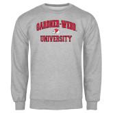 Grey Fleece Crew-Arched Gardner-Webb University