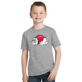 Youth Grey T-Shirt-Bulldog