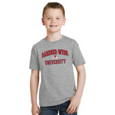 Youth Grey T-Shirt-Arched Gardner-Webb University