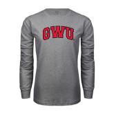 Grey Long Sleeve T Shirt-Arched GWU