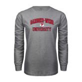 Grey Long Sleeve T Shirt-Arched Gardner-Webb University