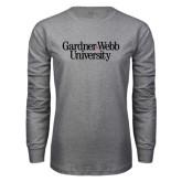 Grey Long Sleeve T Shirt-Gardner-Webb University