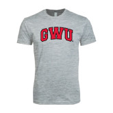 Next Level SoftStyle Heather Grey T Shirt-Arched GWU