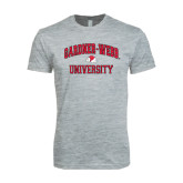 Next Level SoftStyle Heather Grey T Shirt-Arched Gardner-Webb University