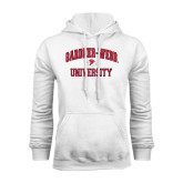 White Fleece Hoodie-Arched Gardner-Webb University