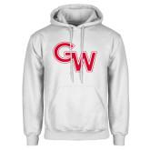 White Fleece Hoodie-GW Primary Logo