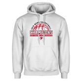 White Fleece Hoodie-2019 Mens Basketball Chmapions