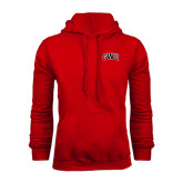 Red Fleece Hood-Arched GWU