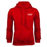 Red Fleece Hood-Gardner-Webb University