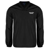 V Neck Black Raglan Windshirt-Gardner-Webb University