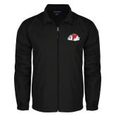 Full Zip Black Wind Jacket-Bulldog
