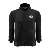 Fleece Full Zip Black Jacket-Bulldog
