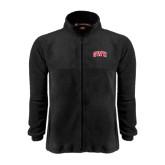 Fleece Full Zip Black Jacket-Arched GWU