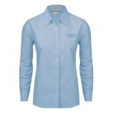 Ladies Light Blue Oxford Shirt-Gardner-Webb University