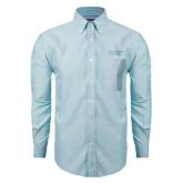 Mens Light Blue Oxford Long Sleeve Shirt-Gardner-Webb University