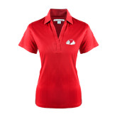 Ladies Red Performance Fine Jacquard Polo-Bulldog