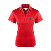 Ladies Red Performance Fine Jacquard Polo-Arched GWU