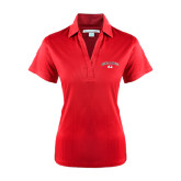 Ladies Red Performance Fine Jacquard Polo-Arched Bulldog