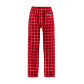 Red/Black Flannel Pajama Pant-Arched GWU