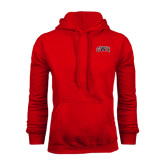 Red Fleece Hoodie-Arched GWU