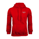 Red Fleece Hoodie-Arched Bulldog