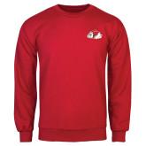 Red Fleece Crew-Bulldog