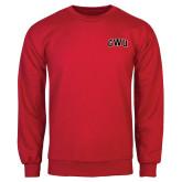 Red Fleece Crew-Arched GWU