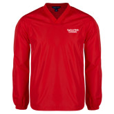 V Neck Red Raglan Windshirt-Gardner-Webb University