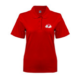 Ladies Easycare Red Pique Polo-Bulldog