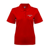 Ladies Easycare Red Pique Polo-Arched Bulldog