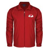 Full Zip Red Wind Jacket-Bulldog