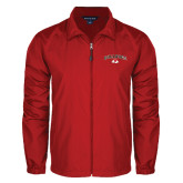Full Zip Red Wind Jacket-Arched Bulldog