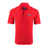 Red Horizontal Textured Polo-Arched GWU