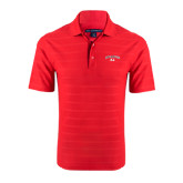 Red Horizontal Textured Polo-Arched Bulldog