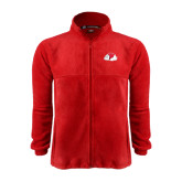 Fleece Full Zip Red Jacket-Bulldog