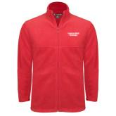 Fleece Full Zip Red Jacket-Gardner-Webb University