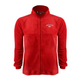 Fleece Full Zip Red Jacket-Arched Bulldog