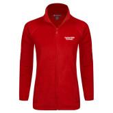 Ladies Fleece Full Zip Red Jacket-Gardner-Webb University