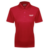 Ladies Red Dry Mesh Polo-Gardner-Webb University