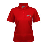 Ladies Red Dry Mesh Polo-Arched GWU
