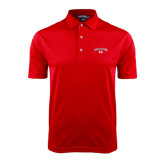 Red Dry Mesh Polo-Arched Bulldog